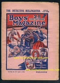 1926 *STAR ITEM*  Boys Mag uncut sheet of decals Jack Dempsey Charlie Buchan Chaplin Hobbs & COMIC !